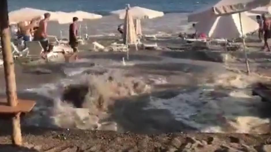 voda, cijev bečići plaža