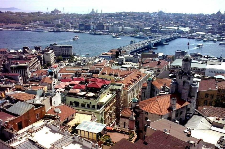 istanbul, turska, most, reka, grad