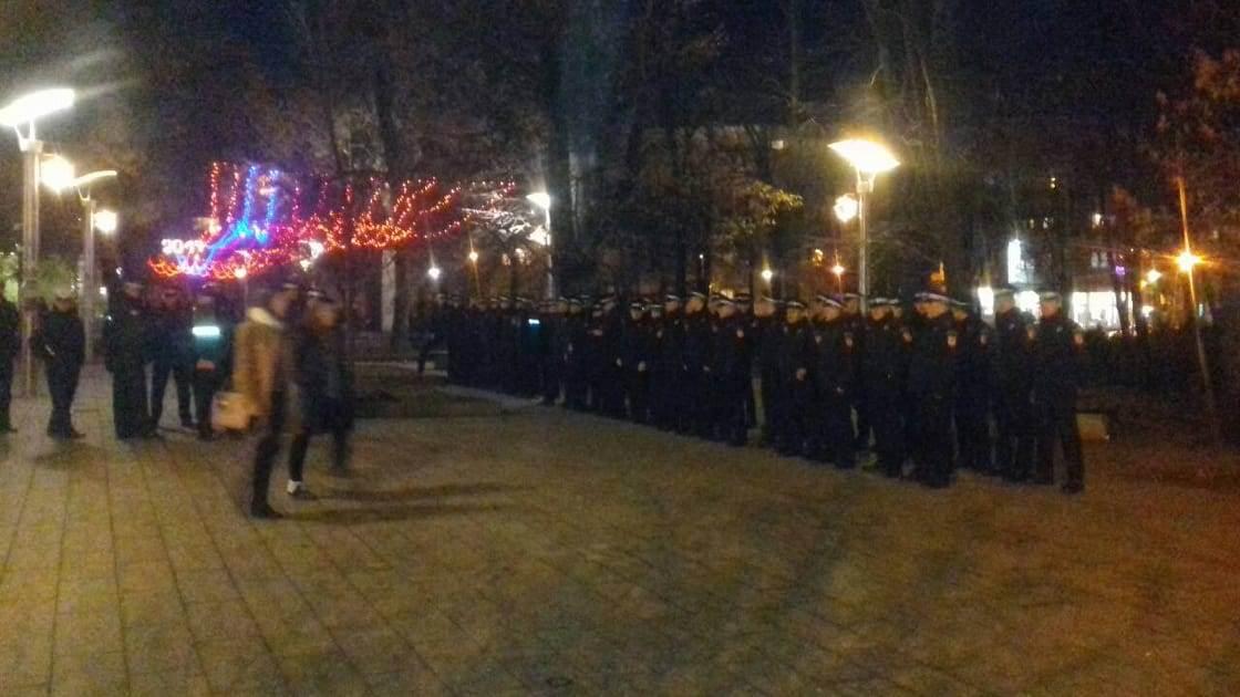 protest, policija