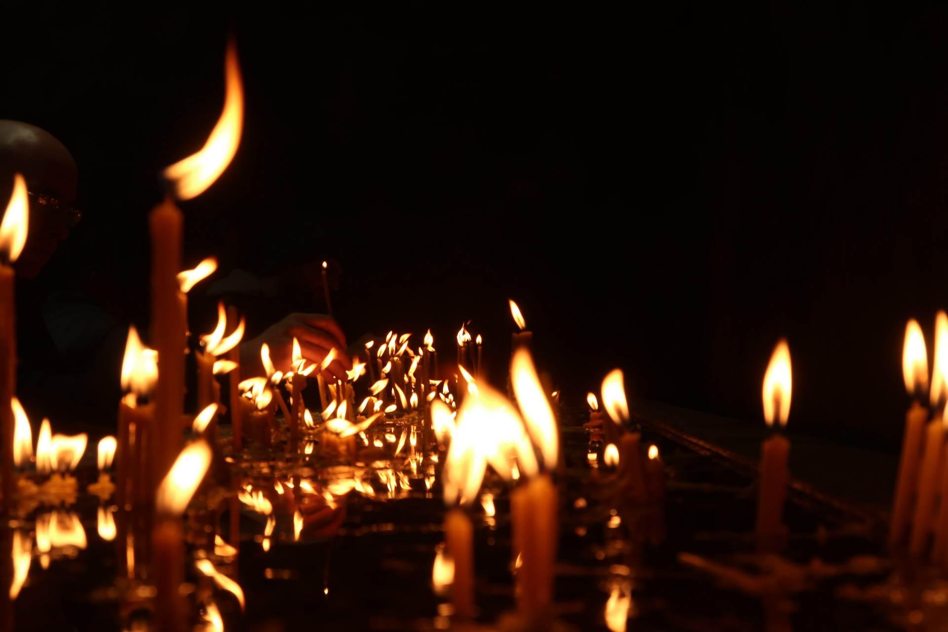 svijeće, šterike, pokojni, sahrana