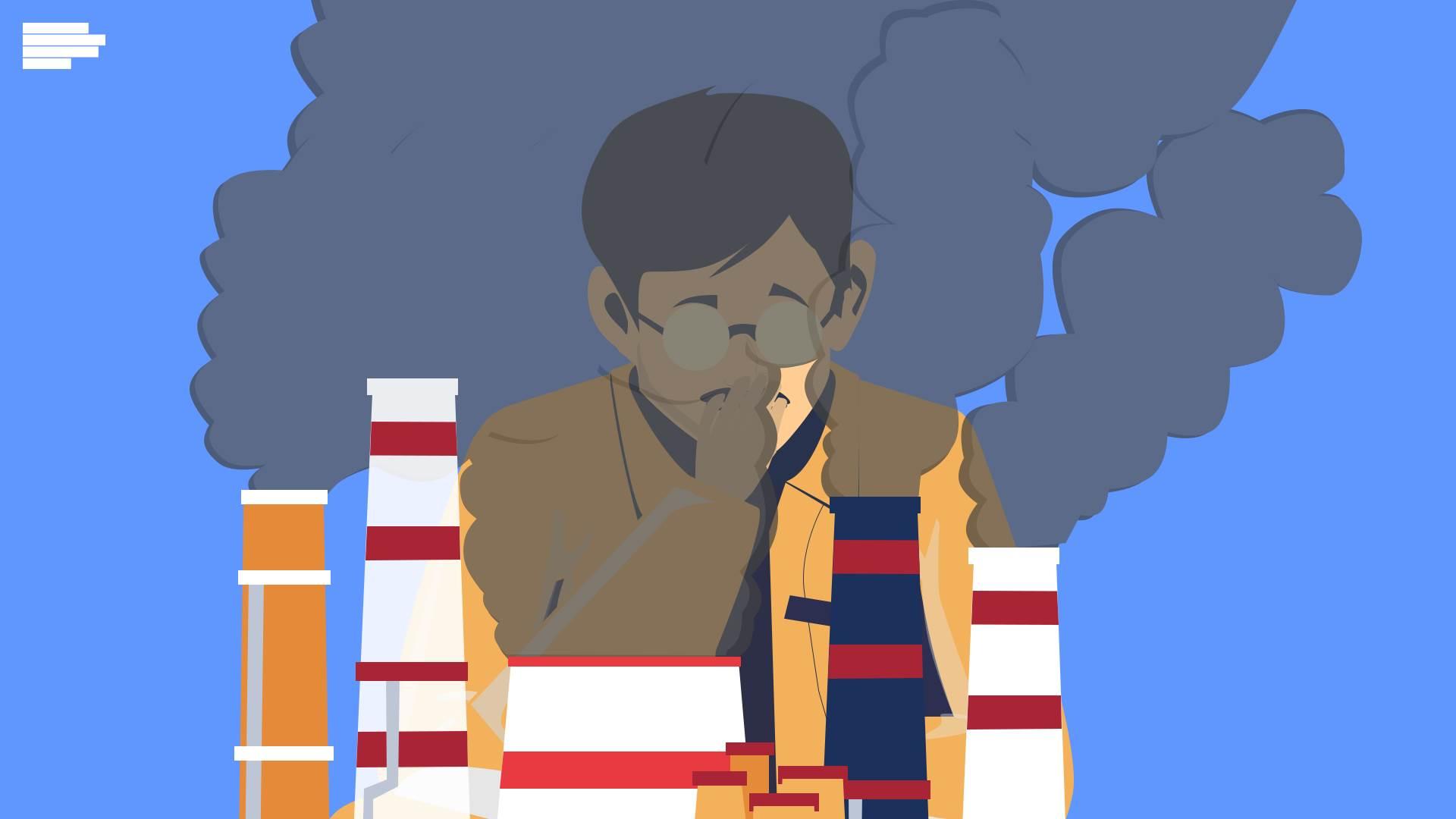 vazduh, zagađenje, disanje, gušenje, dim, dimnjaci, polution, ekologija, priroda