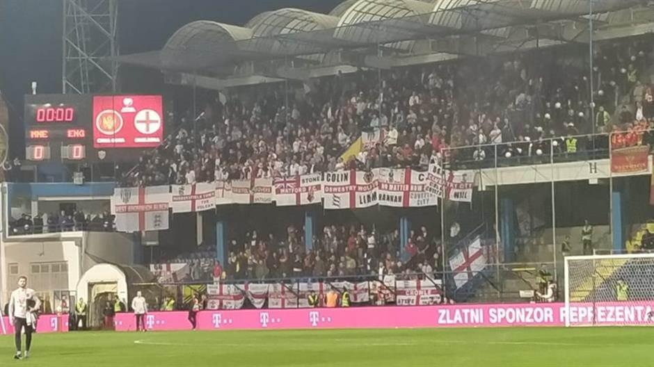 fudbal, Crna Gora, Engleska, reprezentacija, navijači