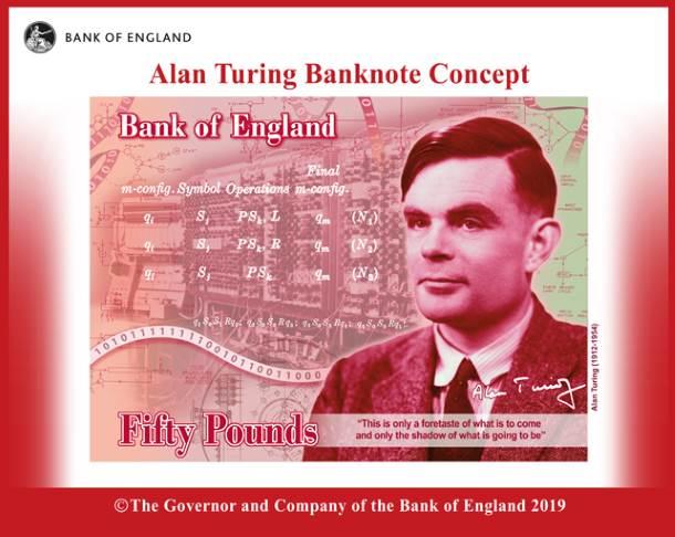 Planiran izgled novčanice od 50 funti.
