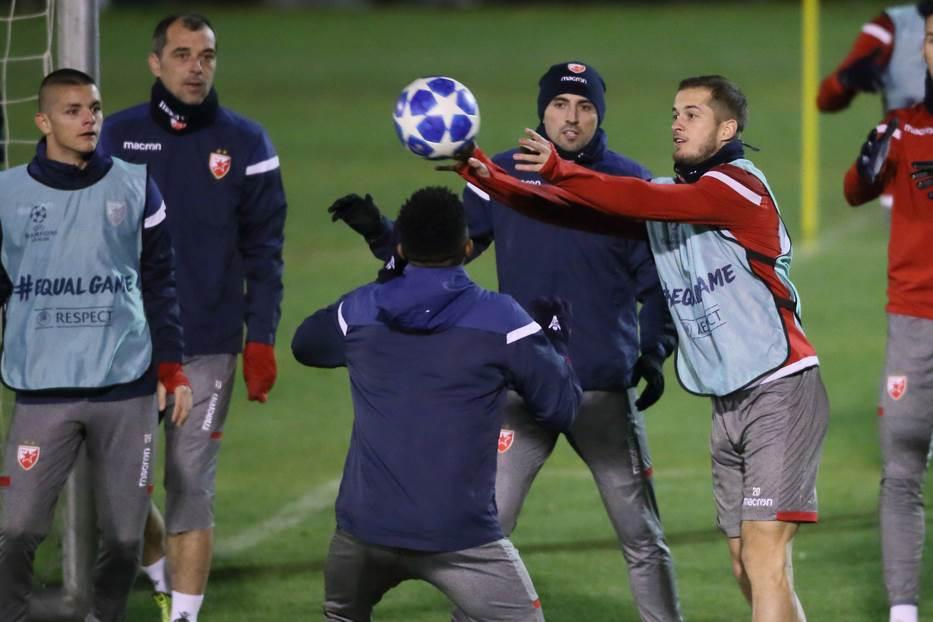 Nenad Krstičić i Goran Čaušić na treningu Zvezde