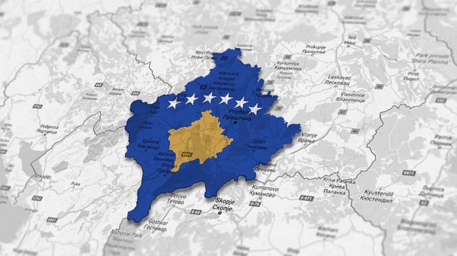 Kosovo-mapa-Kosovo-Zastava