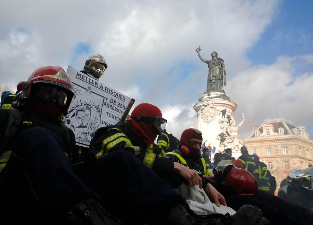 Protest vatrogasaca u Francuskoj