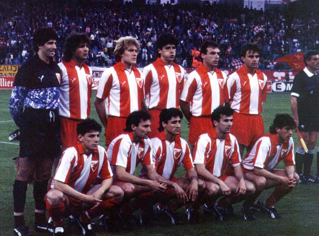 Stojanović, Mihajlović, Prosinečki, Belodedić, Najdoski, Marović, Jugović, Binić, Pančev, Savićević, Šabanadžović