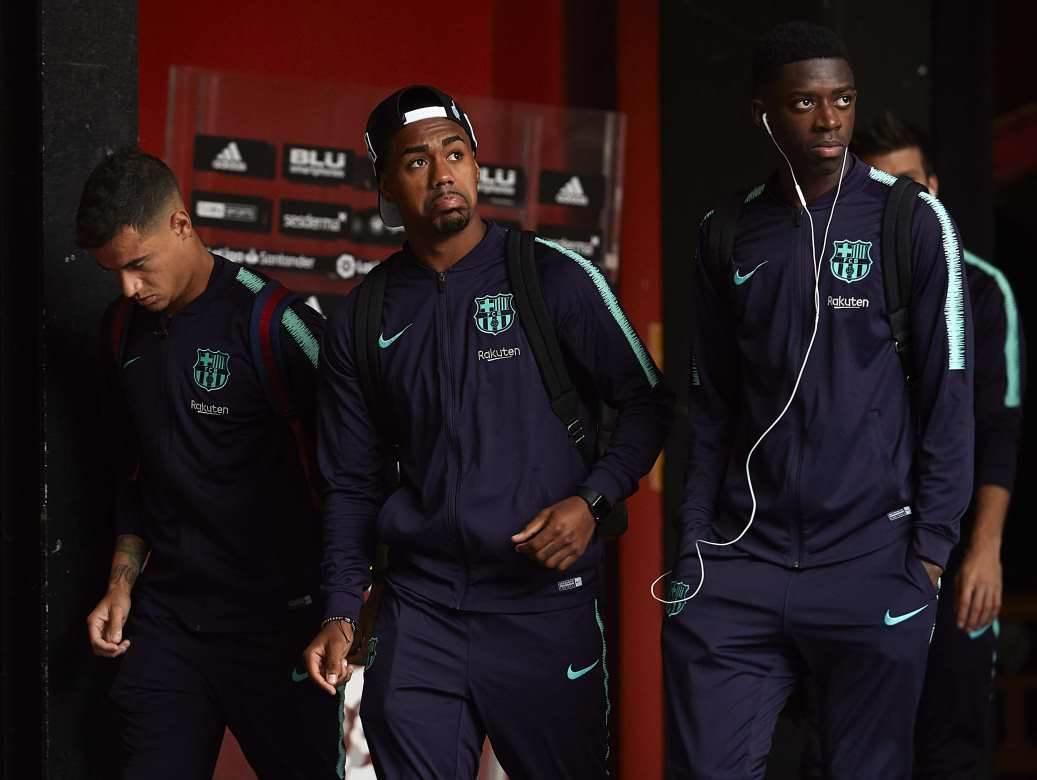 Najskuplja klupa svih vremena: Kutinjo, Malkom i Dembele napuštaju Kamp nou posle jedne od utakmica koje su odgledali kao rezerve.