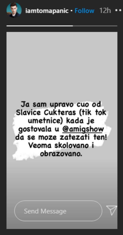 Toma Panić izjava