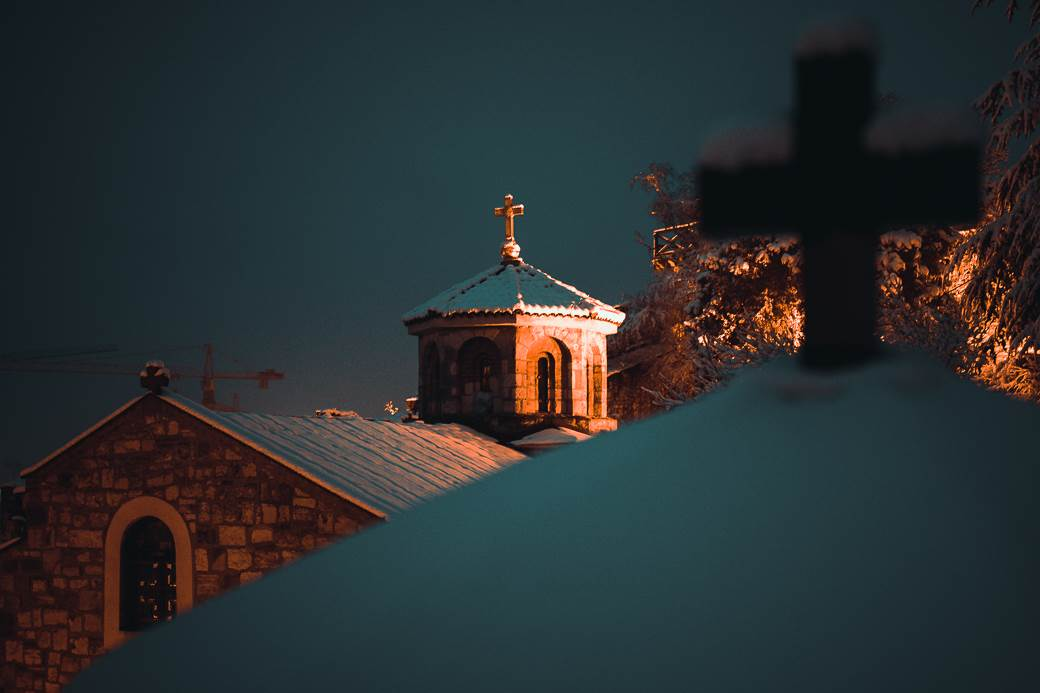 kalemegdan crkva sneg, zima, beograd, pokrivalica, pokrivalice