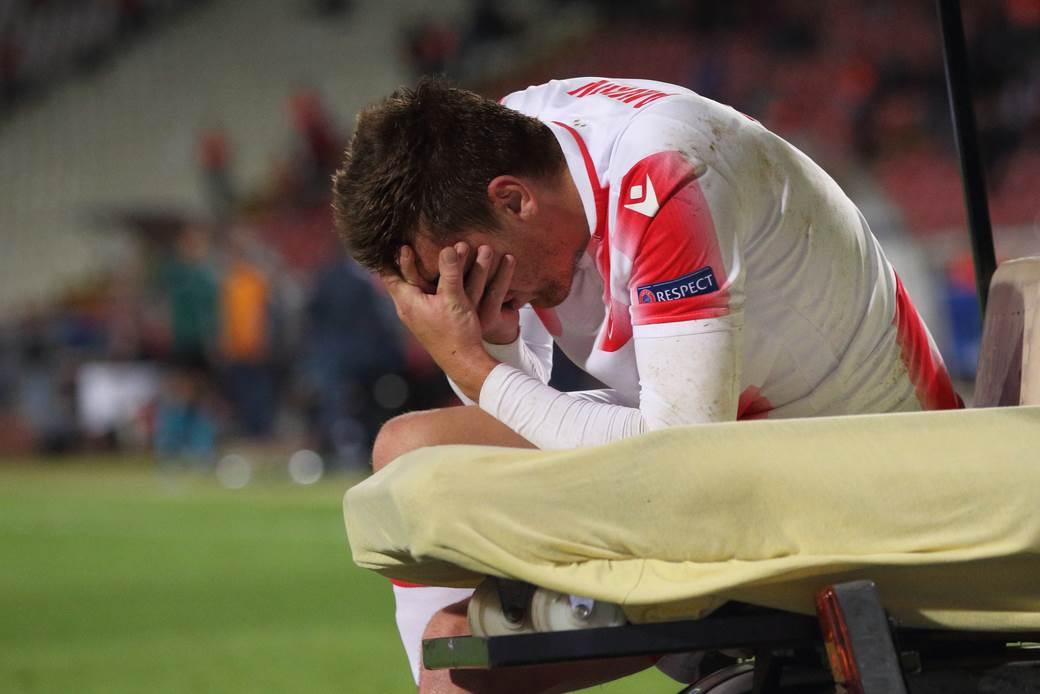Povreda Milana Pavkova.
