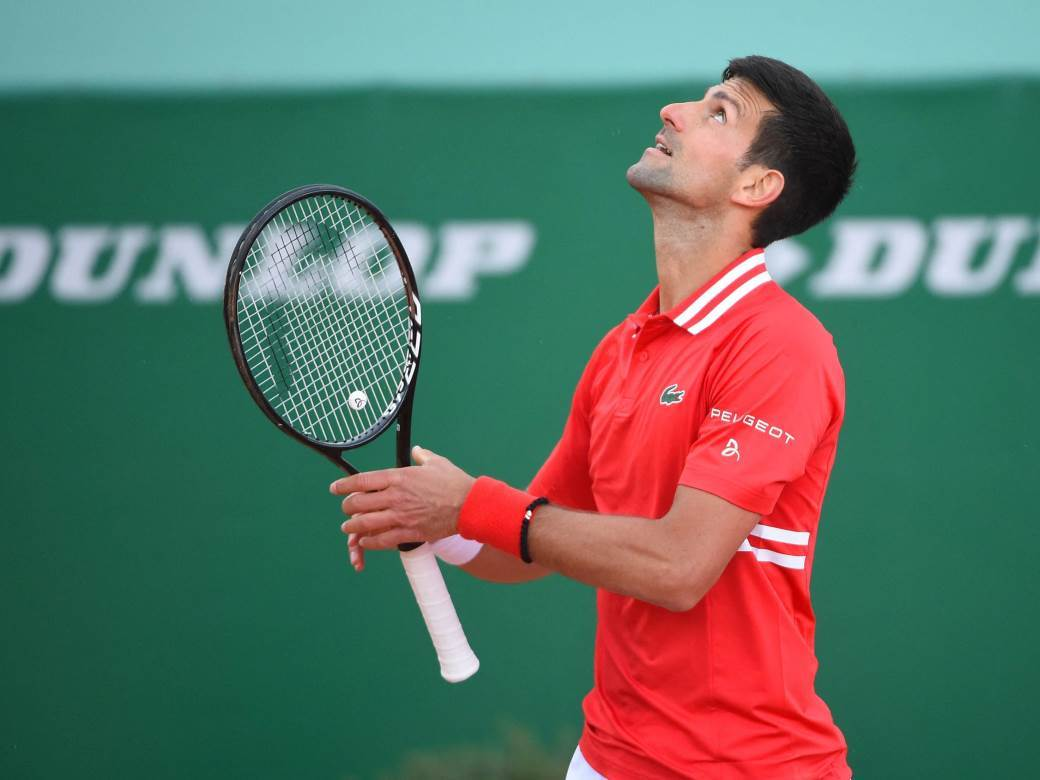 Novak Djokovic (SRB) during his first round match at the Monaco Rolex Masters in Monte Carlo on April 14, 2021.,Image: 605565861, License: Rights-managed, Restrictions: , Model Release: no, Credit line: Profimedia