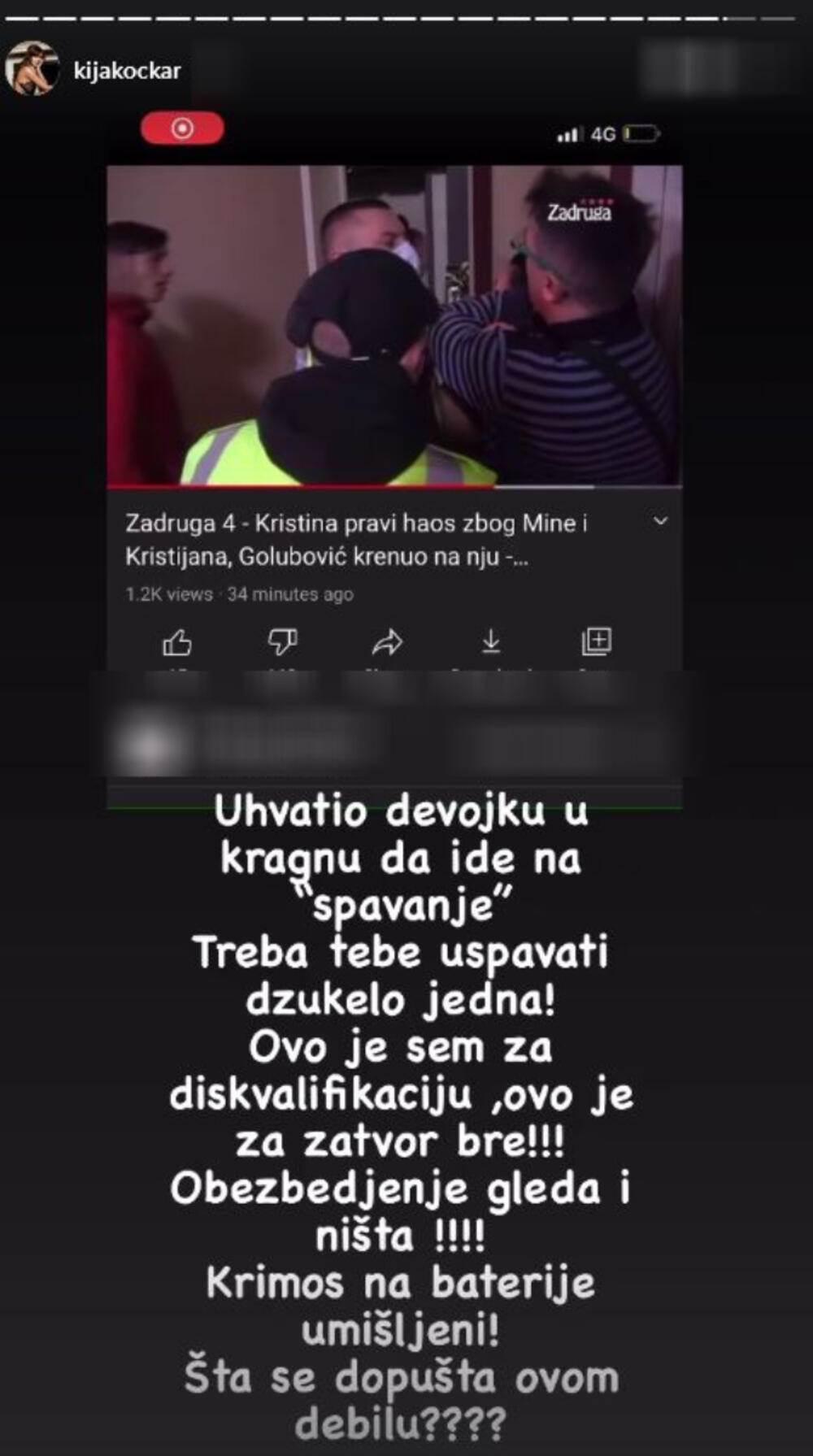 Kija Kockar o Kristijanu Goluboviću