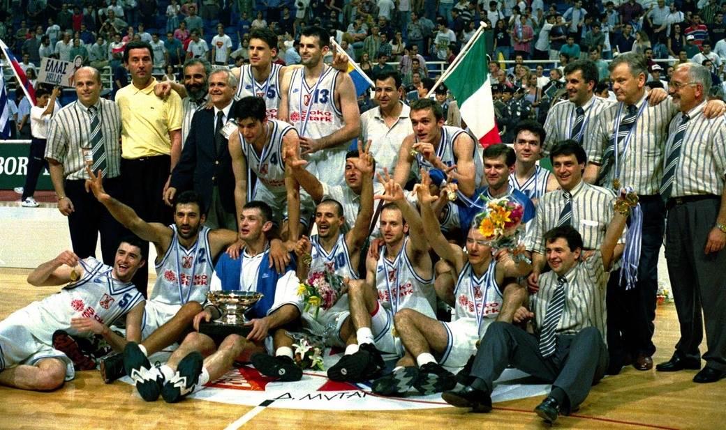 Košarkaška reprezentacija Srbije slavi zlato na Eurobasketu.