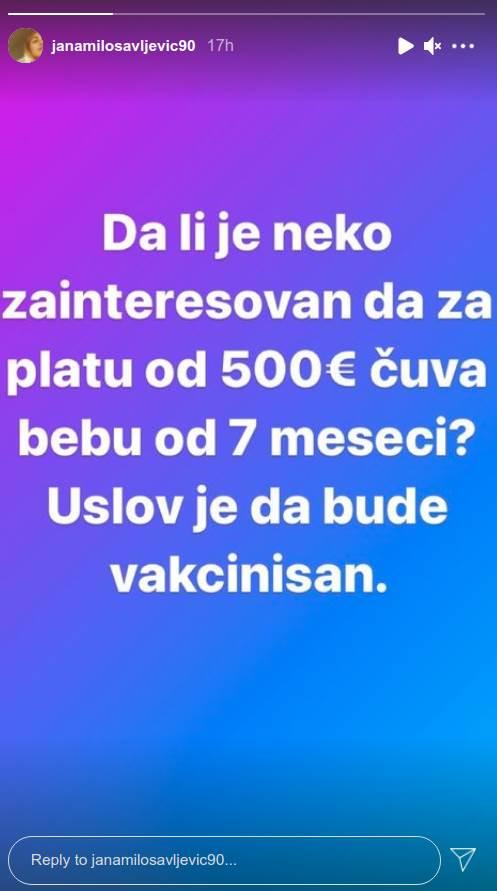 Jana Milosavljević oglas
