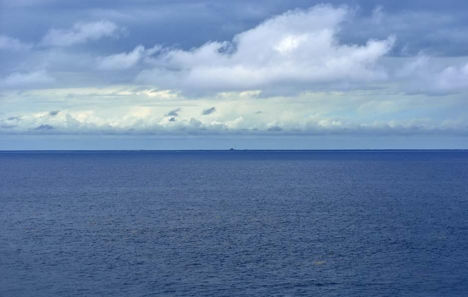 kruzer, posao, okean, more, horizont